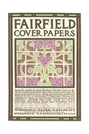 Fairfield Cover Paper, Arts and Crafts Giclee Print