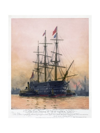 The Last Journey of Hms Victory Giclee Print