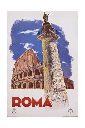 Roma Travel Poster Giclee Print