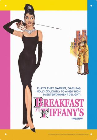 Audrey Breakfast Tin Sign Tin Sign