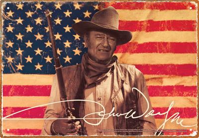 John Wayne Flag Tin Sign Tin Sign