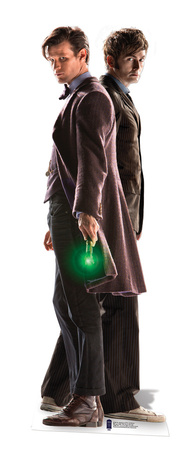 10th & 11th Doctor - 50th Anniversary Special Cardboard Cutouts