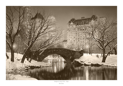 Twilight in Central Park Prints by Rod Chase