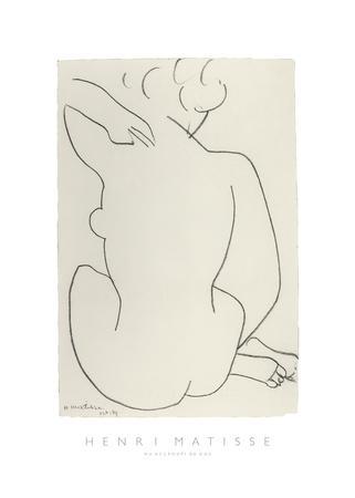 Nu Accroupi de Dos Prints by Henri Matisse