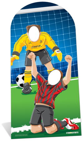 World Football Event Stand In Figura de cartón