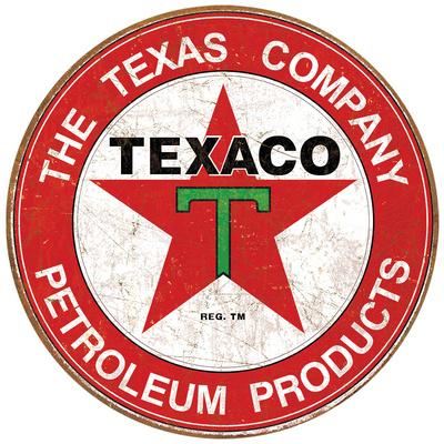 Texaco Motor Oil Weathered Tin Sign Tin Sign
