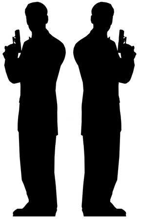 Secret Agent Male - Double pack Figura de cartón