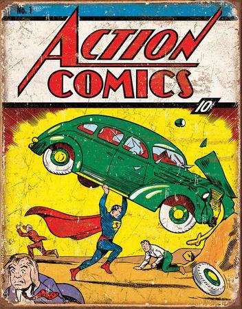 Action Comics Superman No.1 Cover Tin Sign Tin Sign