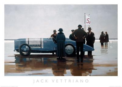 Pendine Beach Posters by Jack Vettriano