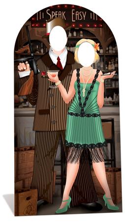 Roaring 20's Couple Stand-In Lifesize Standup Figura de cartón