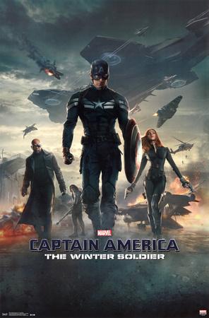 Captain America 2 Winter Soldier superhero comic book poster