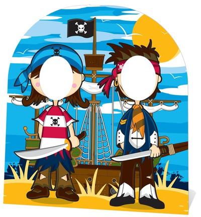 Pirate Stand In - Child-sized Figura de cartón