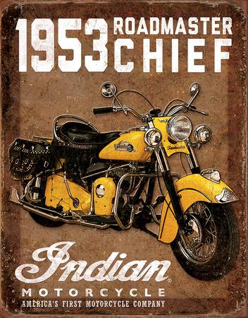 1953 Indian Roadmaster Tin Sign Tin Sign