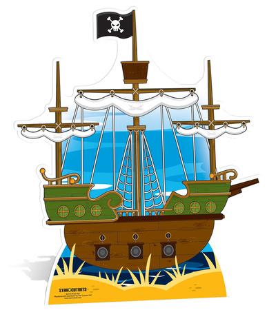 Pirate ship Figura de cartón