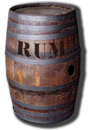 Barrel 'o' Rum Figura de cartón