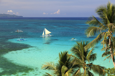 Philippines, Visayas, Boracay Island, Diniwid Beach Photographic Print by Michele Falzone