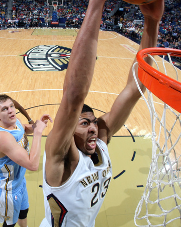 Mar 9, 2014, Denver Nuggets vs New Orleans Pelicans - Anthony Davis Photo by Layne Murdoch