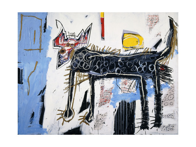 Part Wolf Giclee Print by Jean-Michel Basquiat