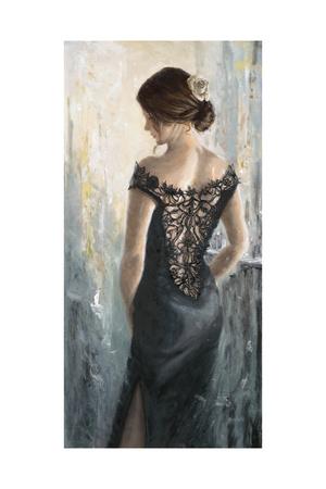 Black Lace, White Rose Posters by Karen Wallis