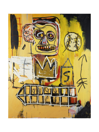 Untitled (Orange Sports Figure) Giclee Print by Jean-Michel Basquiat