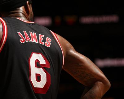 Jan 29, 2014, Oklahoma City Thunder vs Miami Heat - LeBron James Photo by Issac Baldizon