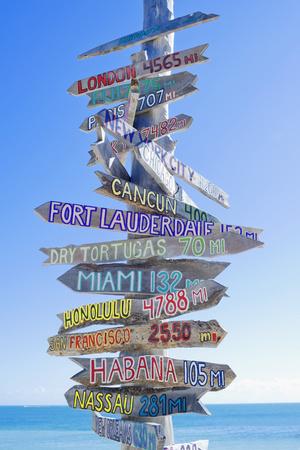 Directions Signpost Near Seaside, Key West, Florida, Usa Photographic Print by Marco Simoni