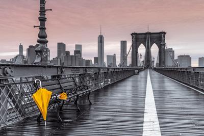 Brooklyn Bridge Umbrella Posters by Frank Assaf