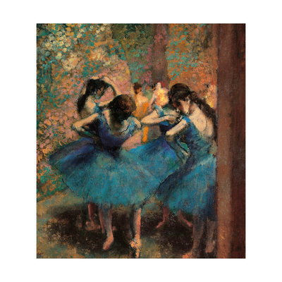 Dancers in Blue (Danseuses Bleues) Giclee Print by Edgar Degas
