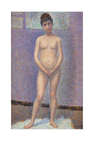 Model from the Front Giclee Print by Georges Seurat