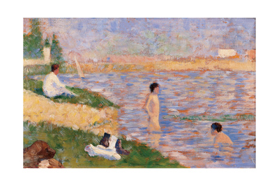 Study for Bathers at Asnières Giclee Print by Georges Seurat