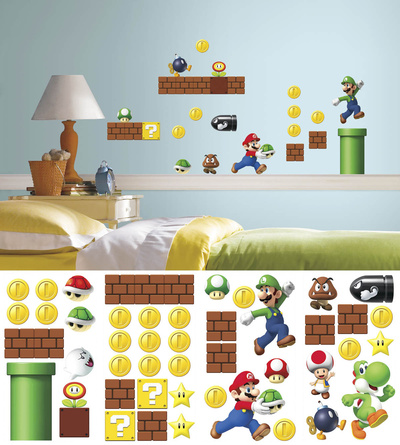 Nintendo - Super Mario Build a Scene Wall Decal Wandtattoo