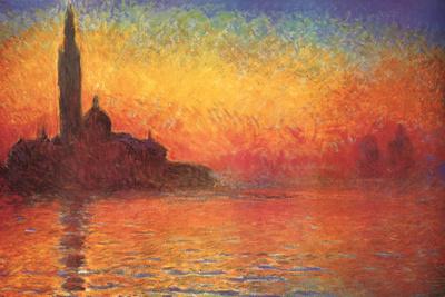 Monet Dusk Venice Poster di Claude Monet