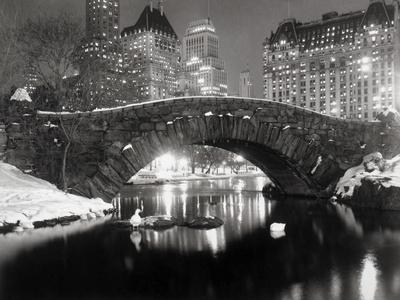 New York Pond under vintern Posters av  Bettmann