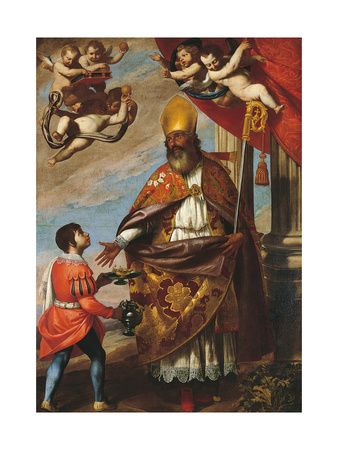 St Nicholaus Giclee Print by Massimo Stanzione