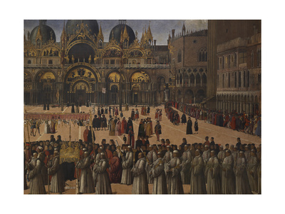 Procession in St Mark's Square Giclee Print by Gentile Bellini