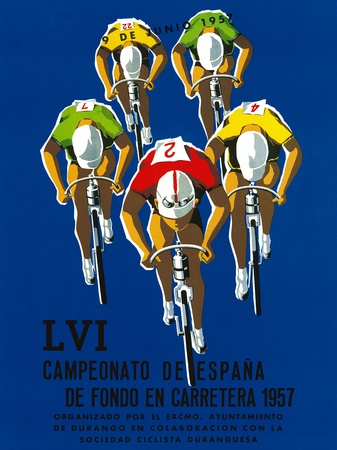 Cameonato de Espana de Fondo en Carretera, 1957 Prints by  Lantern Press