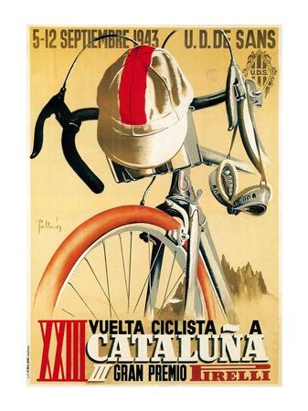 Volta Ciclista a Catalunya, 1943 ポスター : ランターン・プレス