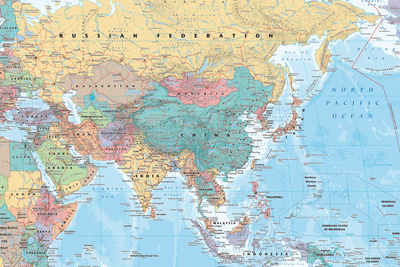 Middle East and Asia map Posters
