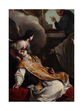 The Saints Andrew Avellino Giclee Print by Giambettino Cignaroli