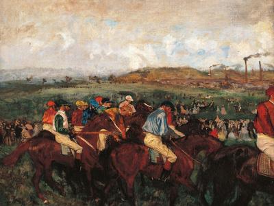 The Gentlemen's Race Before the Start Giclee Print by Edgar Degas