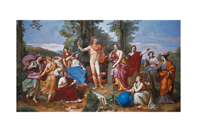 The Parnassus Giclee Print by Anton Raphael Mengs