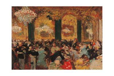 Dinner at the Ball Giclee Print by Edgar Degas
