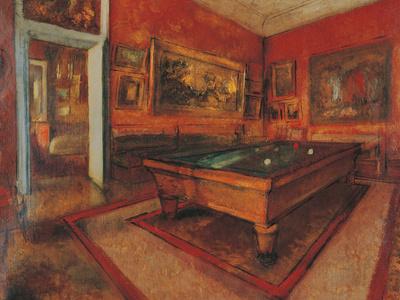 The Billiard Room Giclee Print by Edgar Degas
