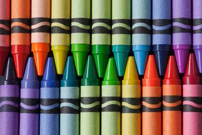 Crayons of a Rainbow II Photographic Print by Kathy Mahan