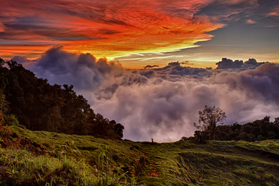 Mountain Cloud Sunset Photographic Print by Larry Malvin