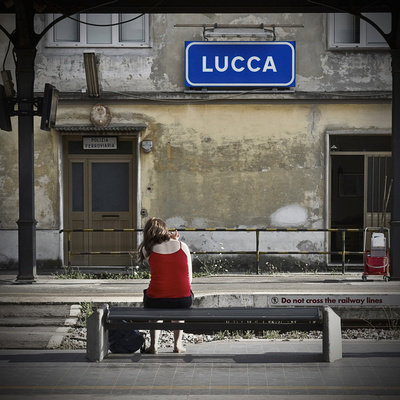 Lucca Train Station Photographic Print by Eugenia Kyriakopoulou
