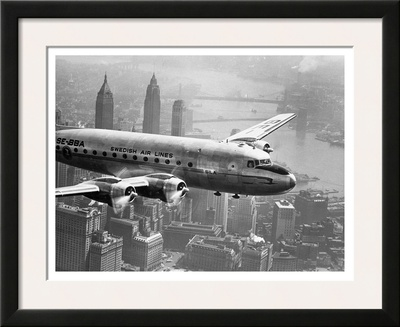 Aircraft Flying over City, 1946 Posters