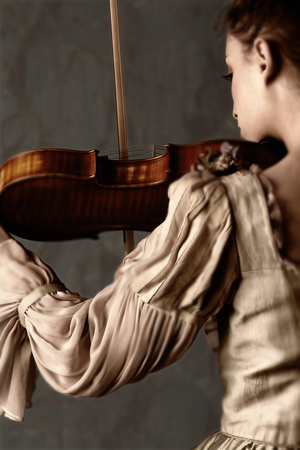 Woman Playing the VIolin Photographic Print by Ricardo Demurez