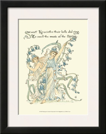 Shakespeare's Garden II (Hyacinth) Prints by Walter Crane