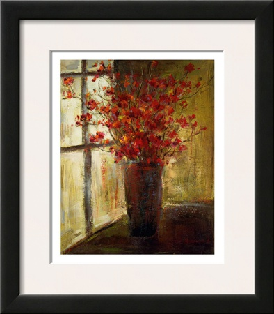 Vase of Red Flowers Prints by Christine Stewart